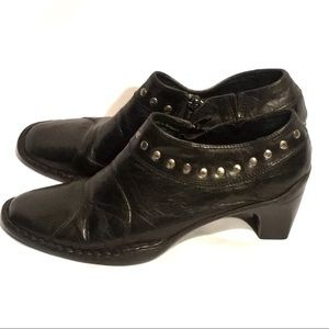 JOSEF SEIBEL 9-8.5 Black Studded Ankle Booties EUC